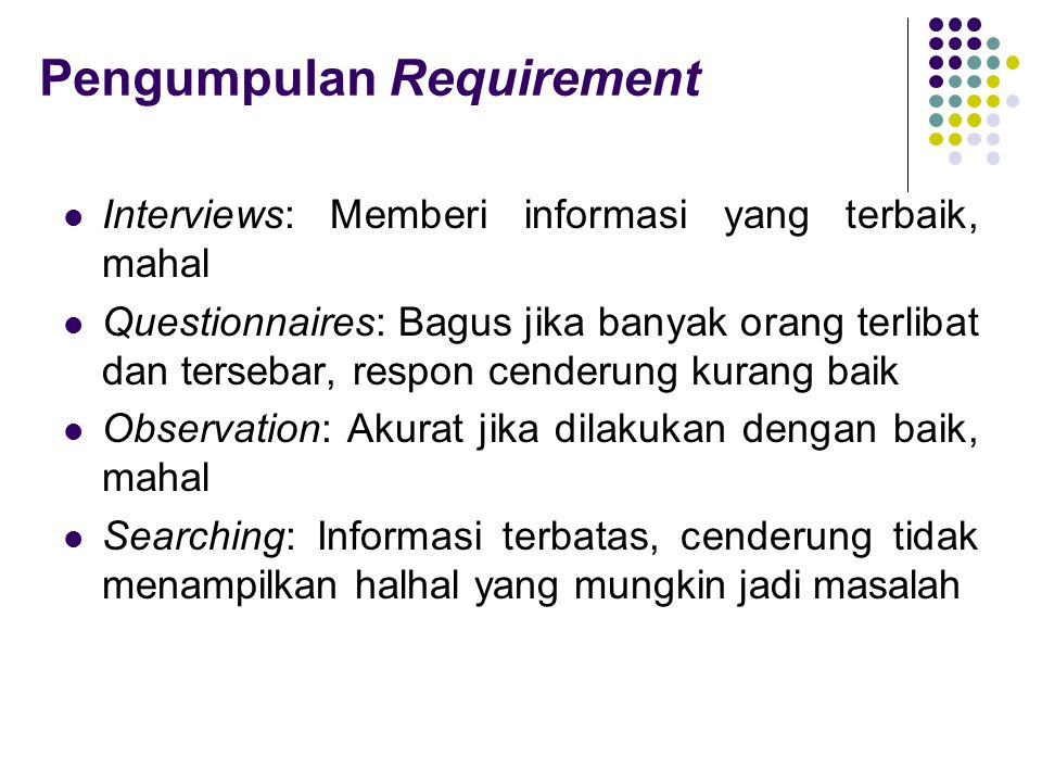Pengumpulan Requirement