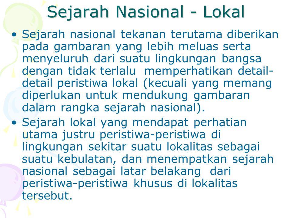 Sejarah Nasional - Lokal