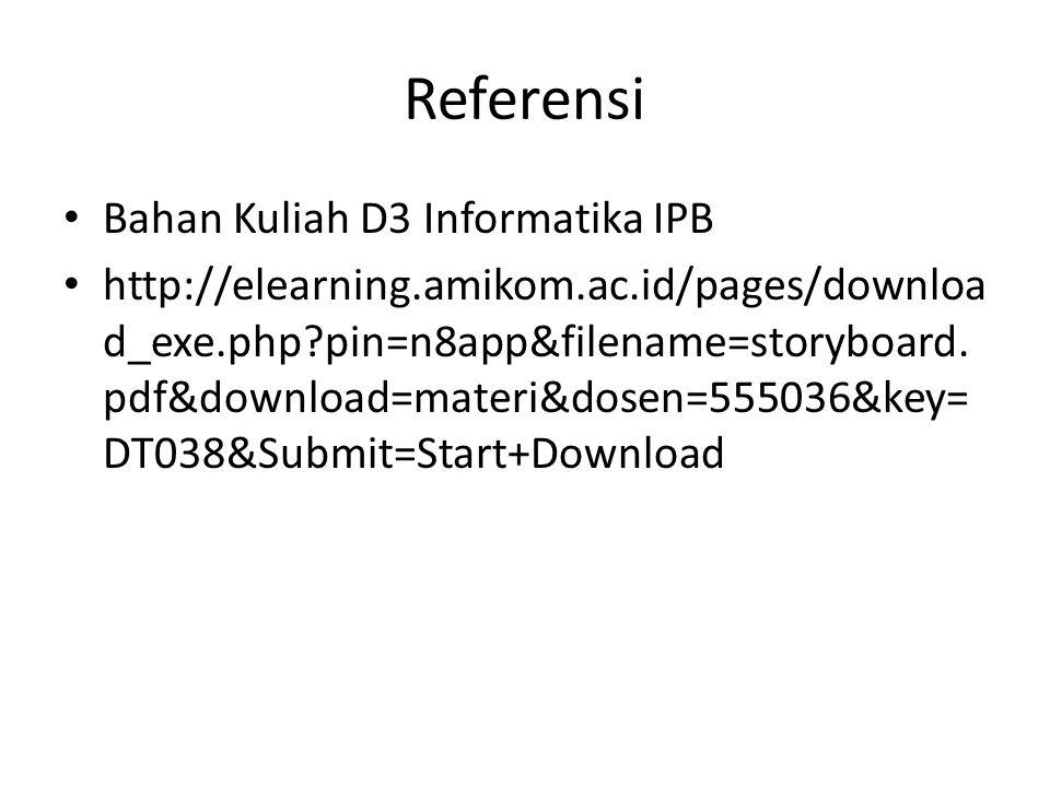 Referensi Bahan Kuliah D3 Informatika IPB