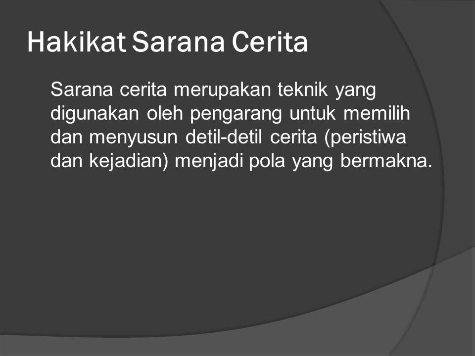 Hakikat Sarana Cerita