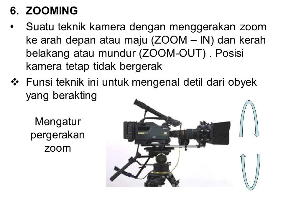 Mengatur pergerakan zoom