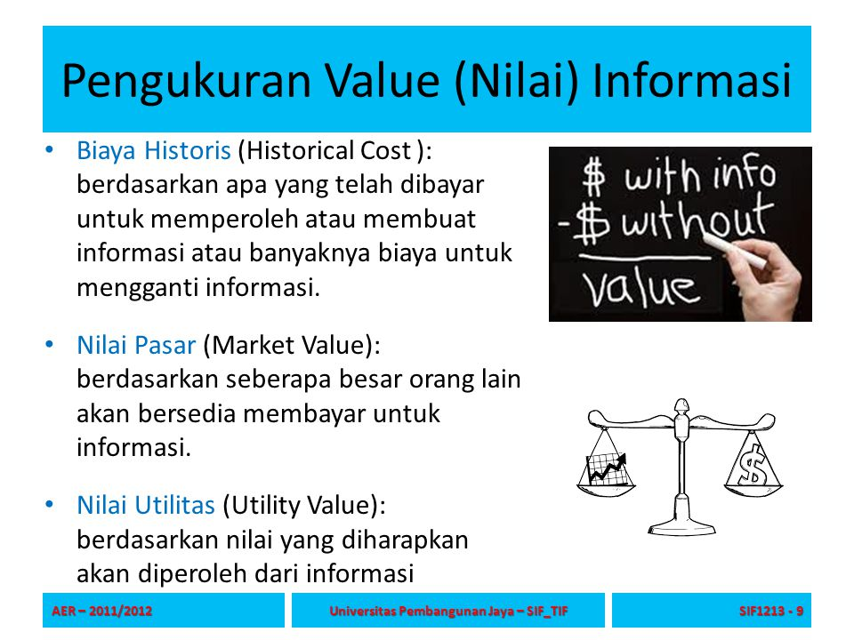 Pengukuran Value (Nilai) Informasi