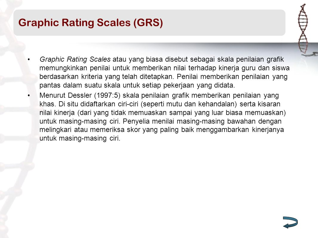 Graphic Rating Scales (GRS)