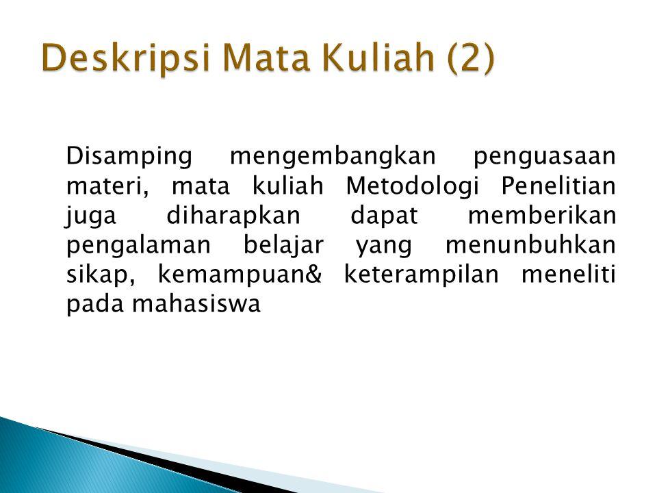 Deskripsi Mata Kuliah (2)