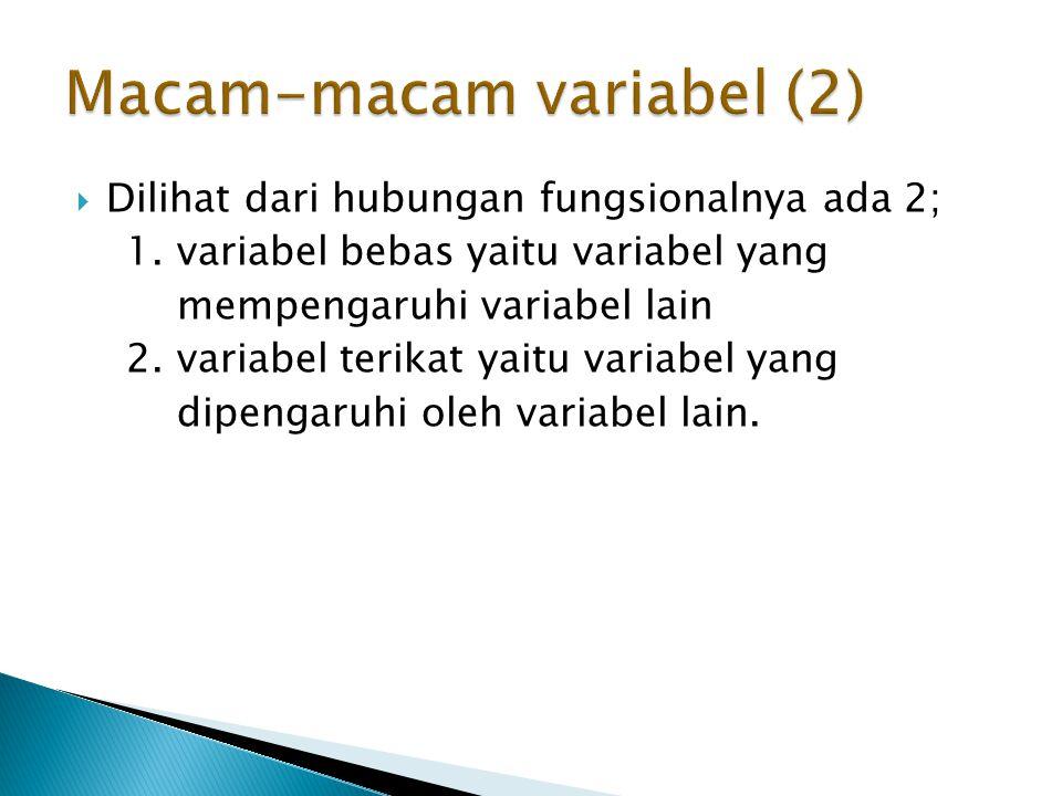 Macam-macam variabel (2)