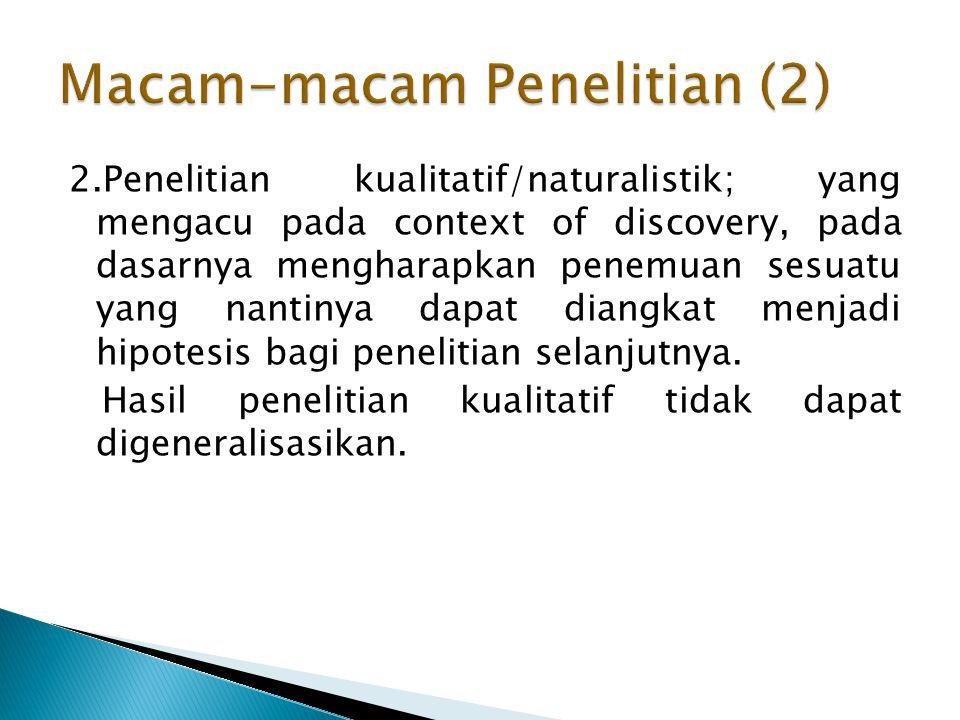 Macam-macam Penelitian (2)