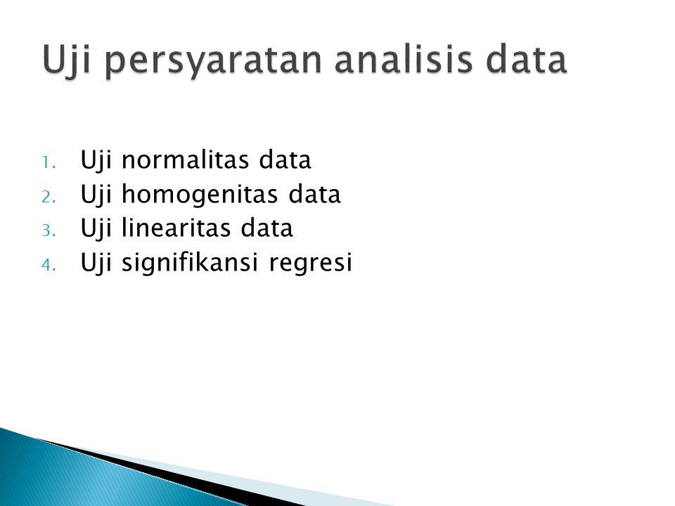 Uji persyaratan analisis data