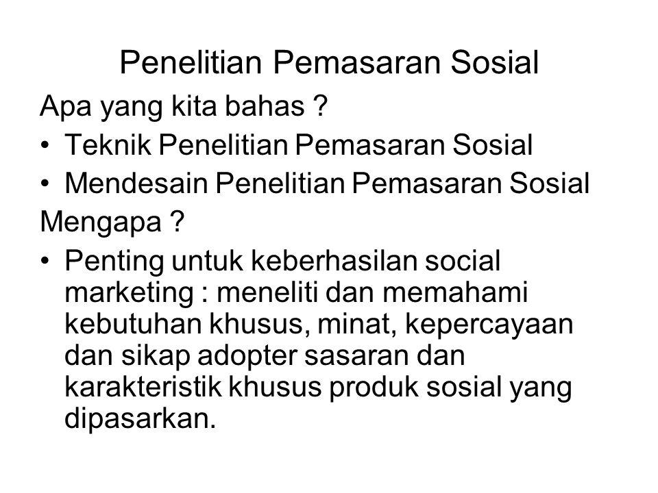 Penelitian Pemasaran Sosial