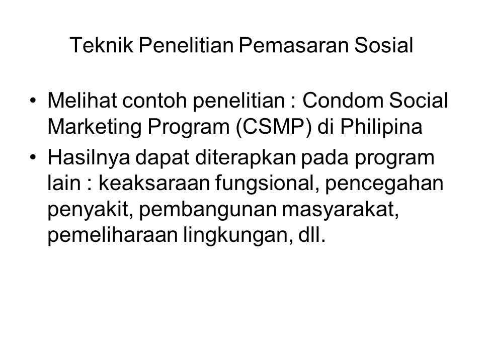 Teknik Penelitian Pemasaran Sosial