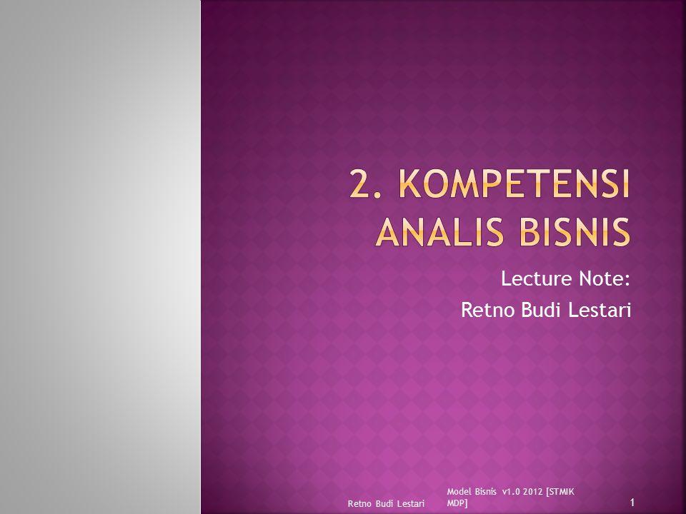 2. Kompetensi Analis Bisnis