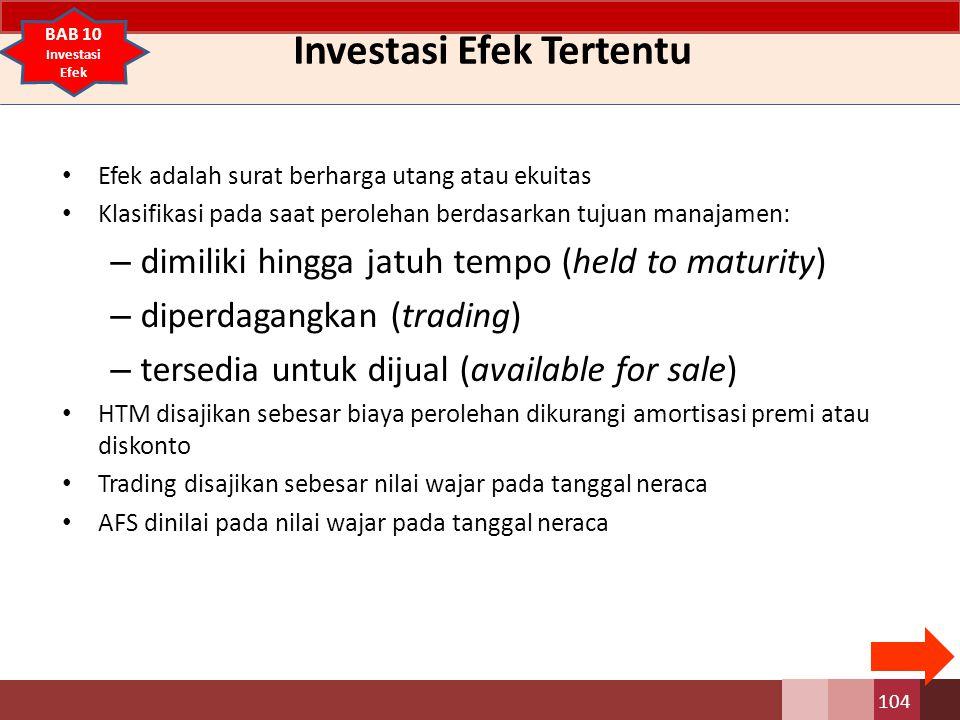 Investasi Efek Tertentu