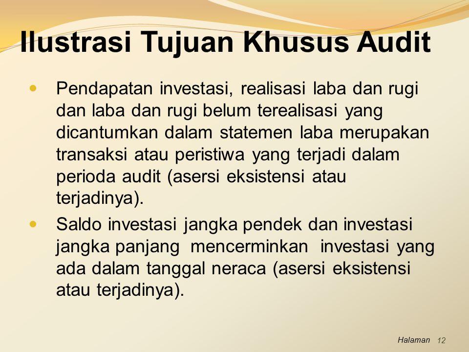 Ilustrasi Tujuan Khusus Audit