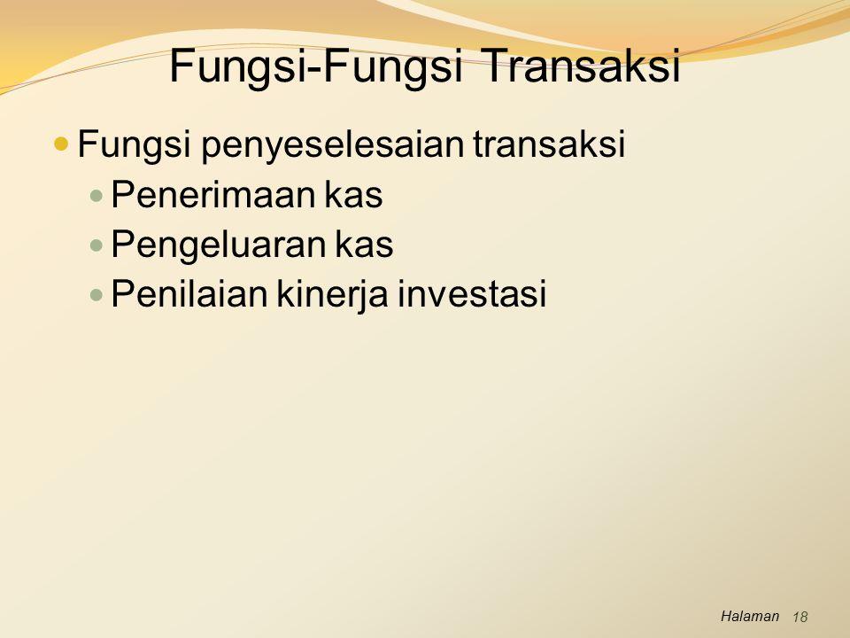 Fungsi-Fungsi Transaksi