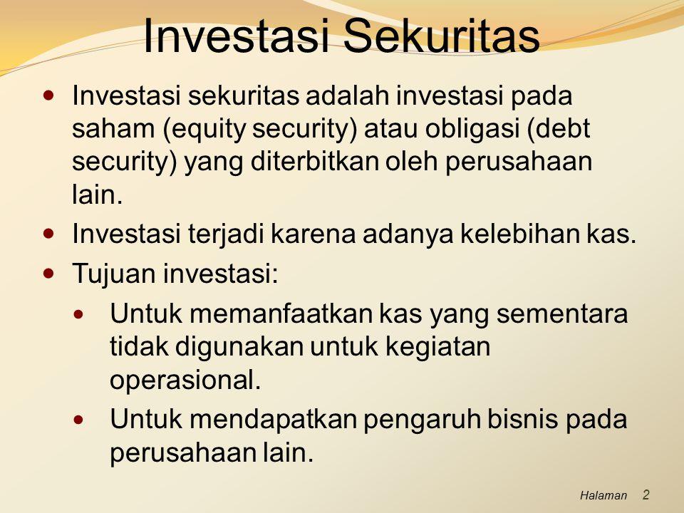 Investasi Sekuritas