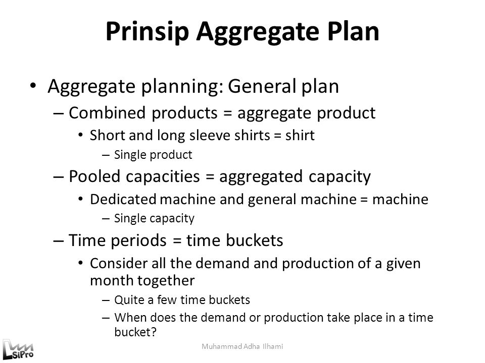Prinsip Aggregate Plan