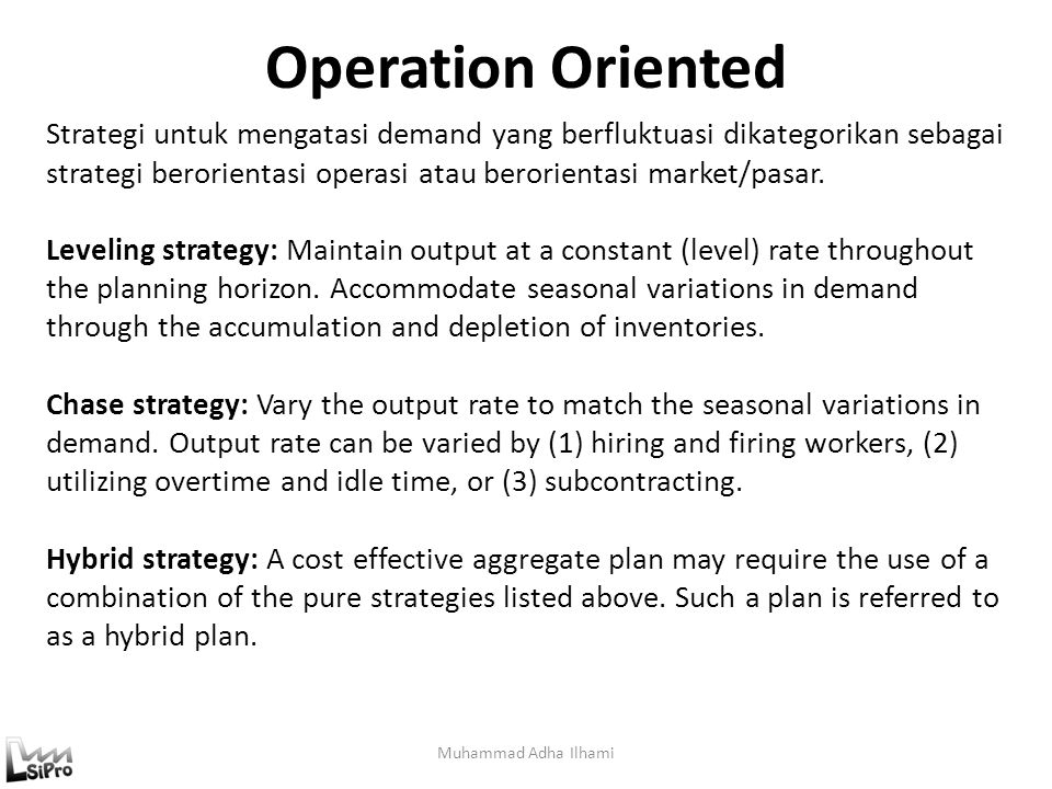 Operation Oriented