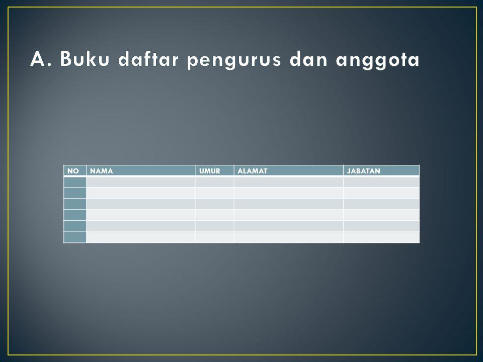 A. Buku daftar pengurus dan anggota