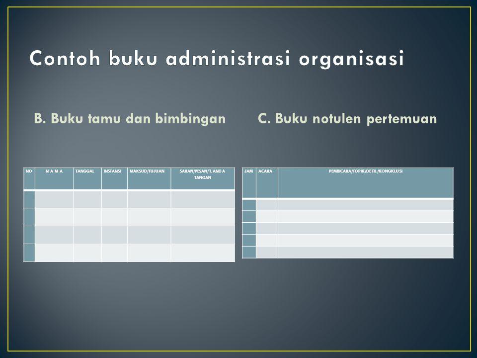 Contoh buku administrasi organisasi