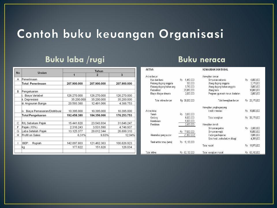 Contoh buku keuangan Organisasi