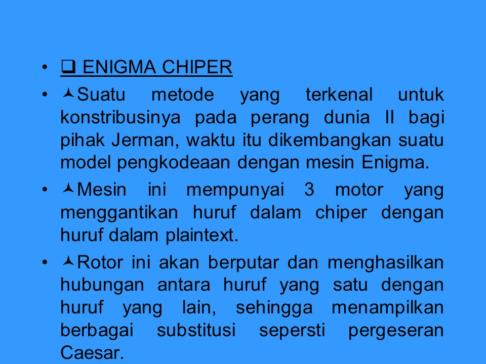  ENIGMA CHIPER