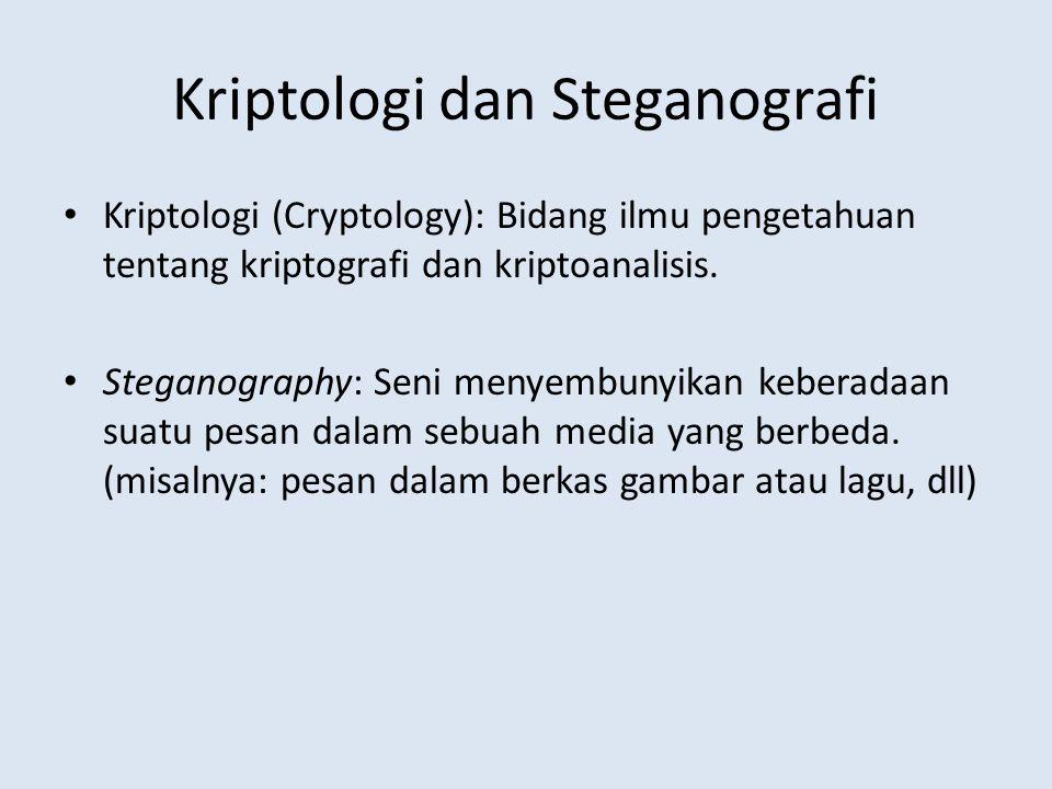Kriptologi dan Steganografi