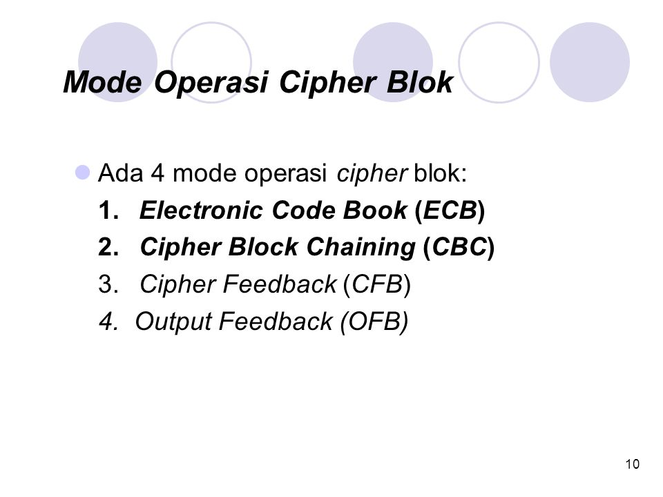 Mode Operasi Cipher Blok