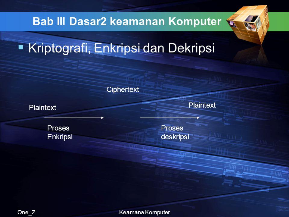 Bab III Dasar2 keamanan Komputer