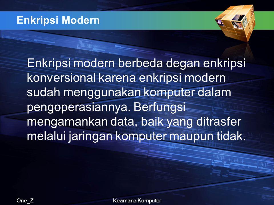 Enkripsi Modern