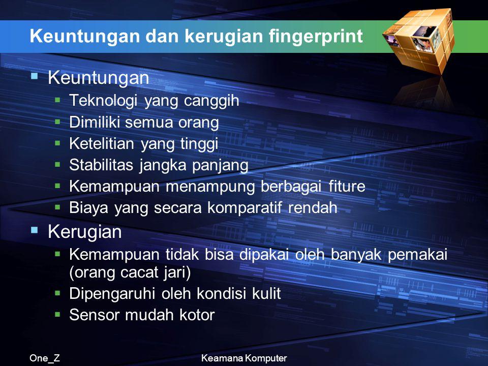 Keuntungan dan kerugian fingerprint