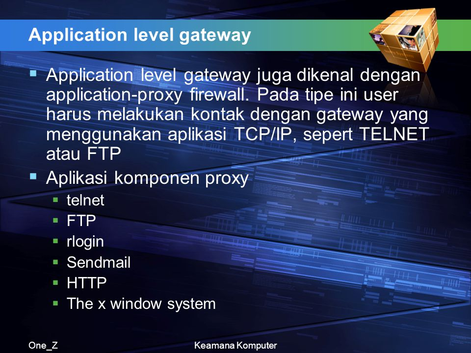 Application level gateway