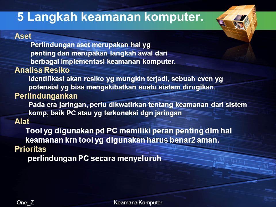 5 Langkah keamanan komputer.
