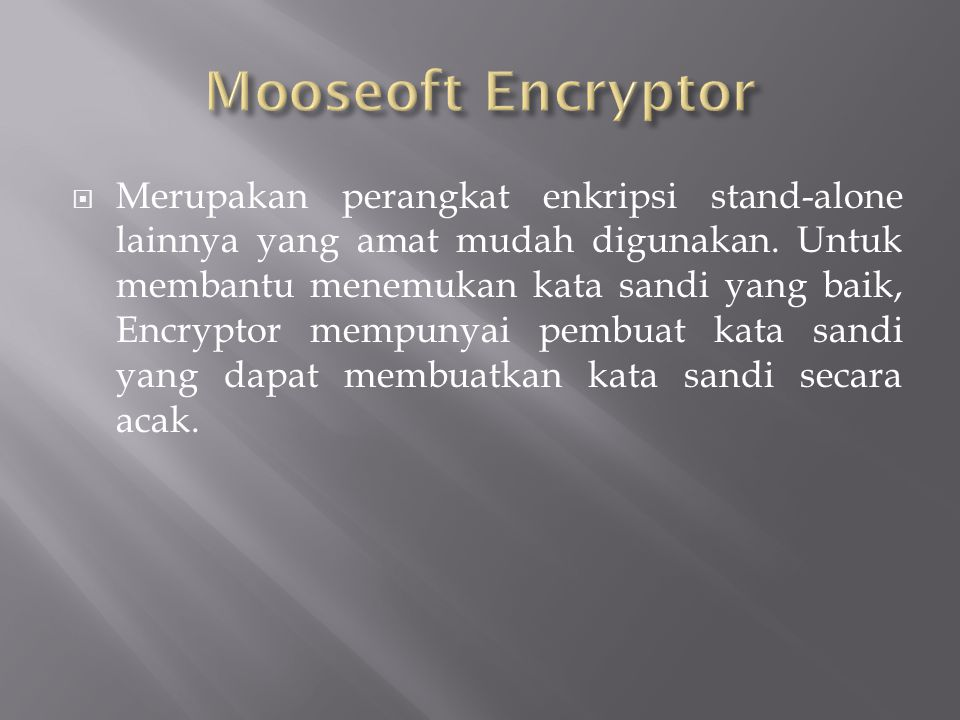 Mooseoft Encryptor