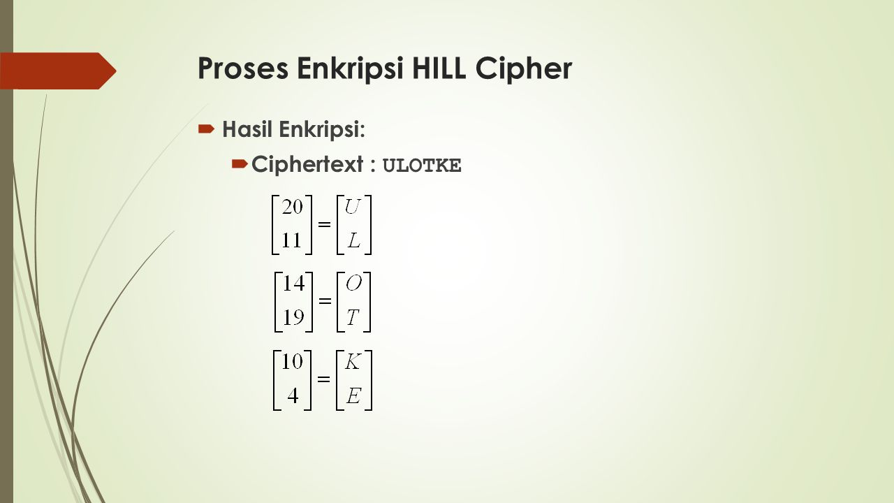 Proses Enkripsi HILL Cipher