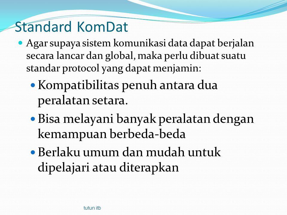 Standard KomDat Kompatibilitas penuh antara dua peralatan setara.