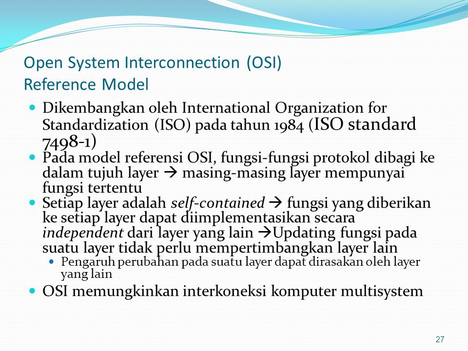 Open System Interconnection (OSI) Reference Model