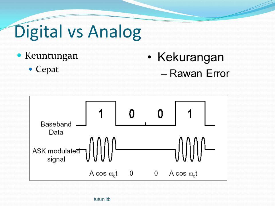 Digital vs Analog Keuntungan Cepat Kekurangan Rawan Error tutun itb