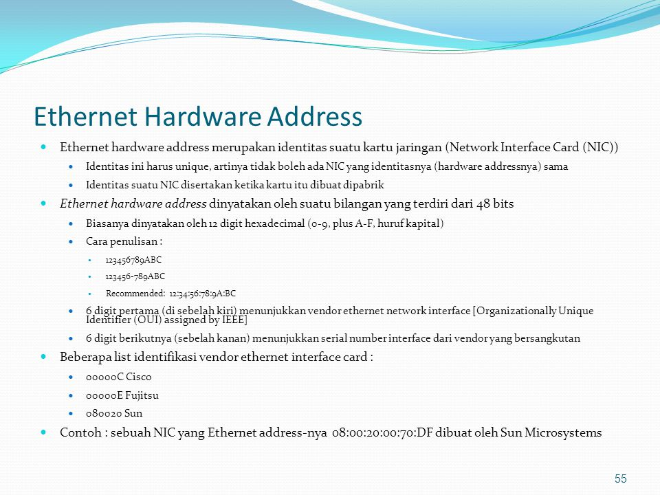 Ethernet Hardware Address