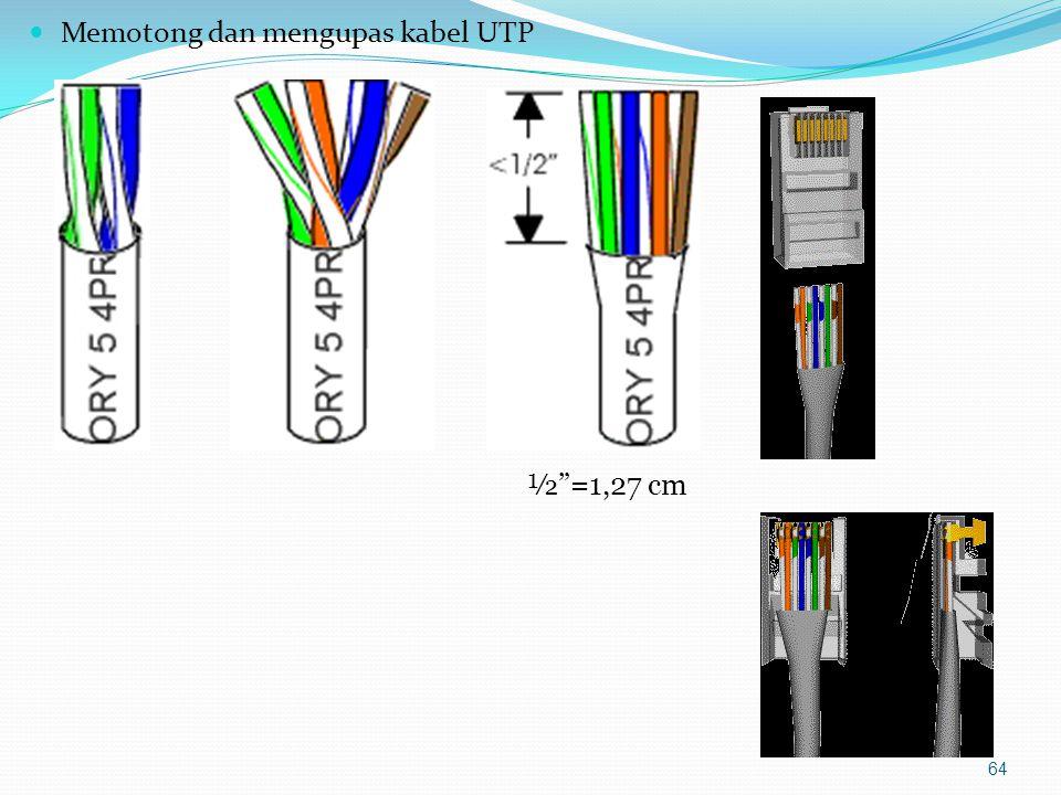 Memotong dan mengupas kabel UTP