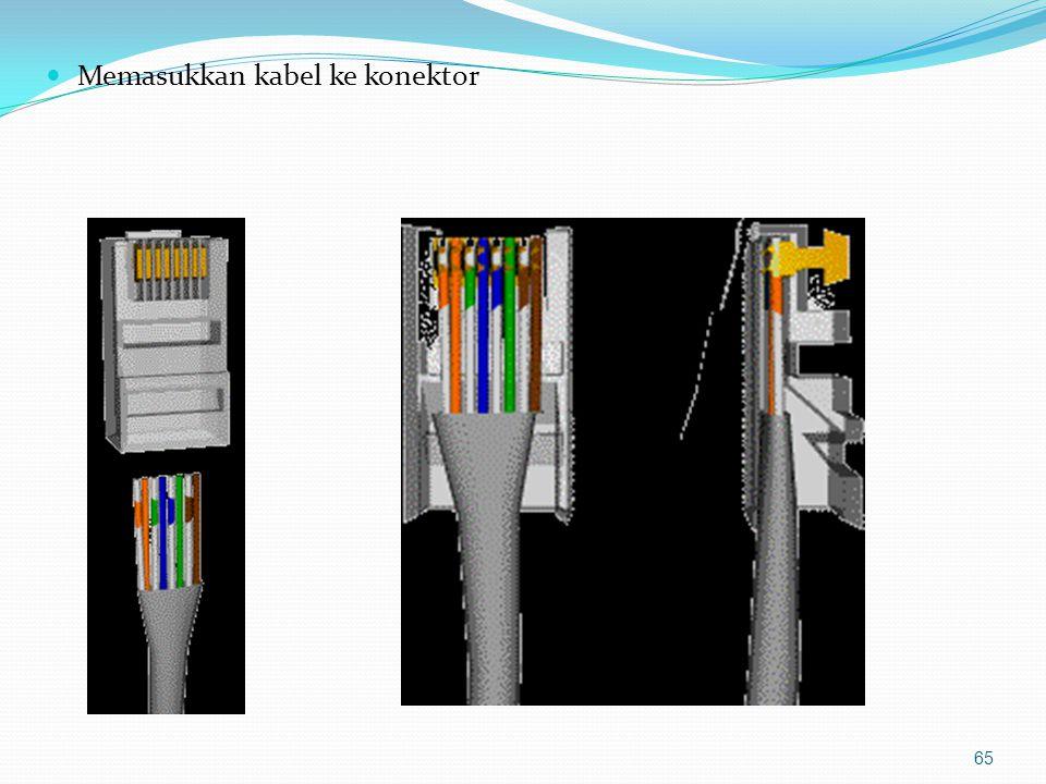 Memasukkan kabel ke konektor