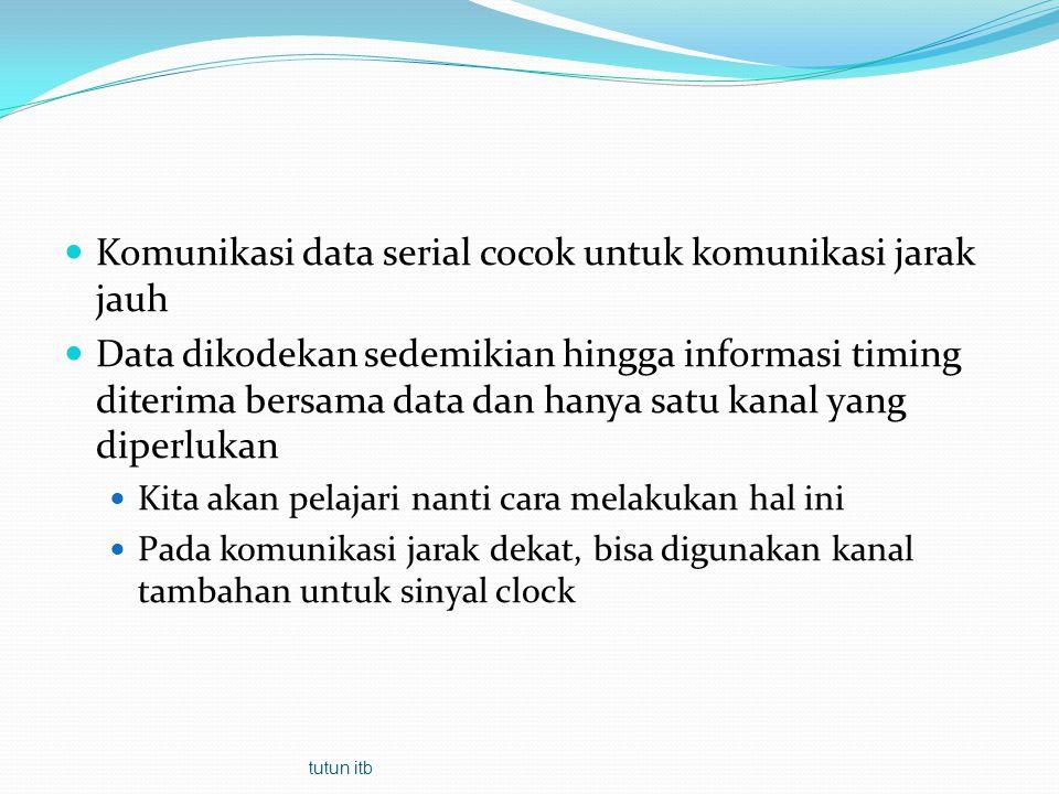 Komunikasi data serial cocok untuk komunikasi jarak jauh