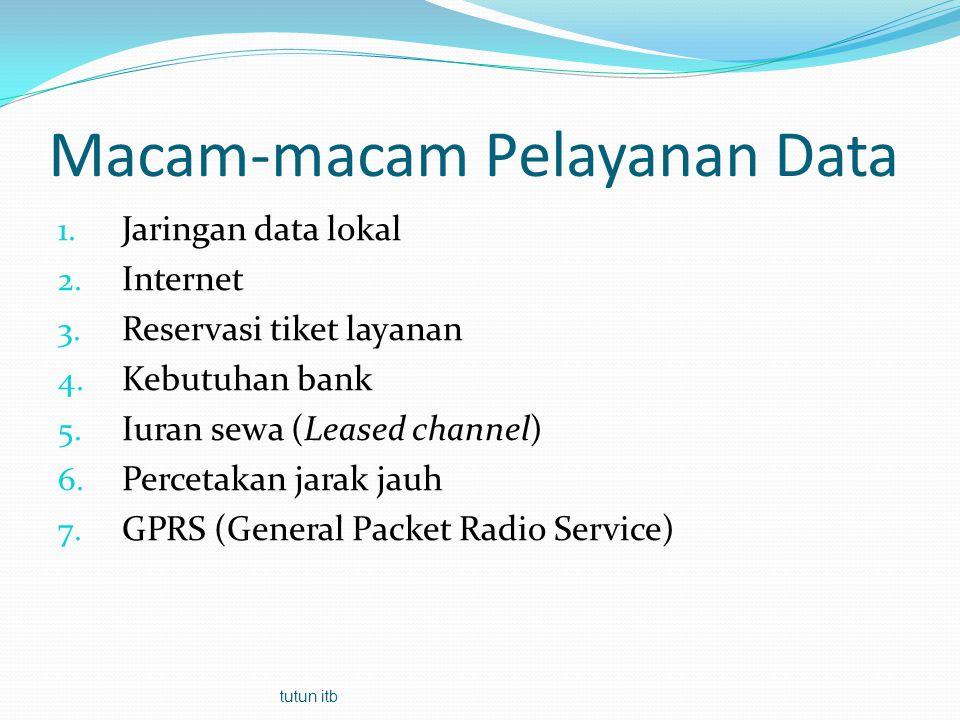 Macam-macam Pelayanan Data