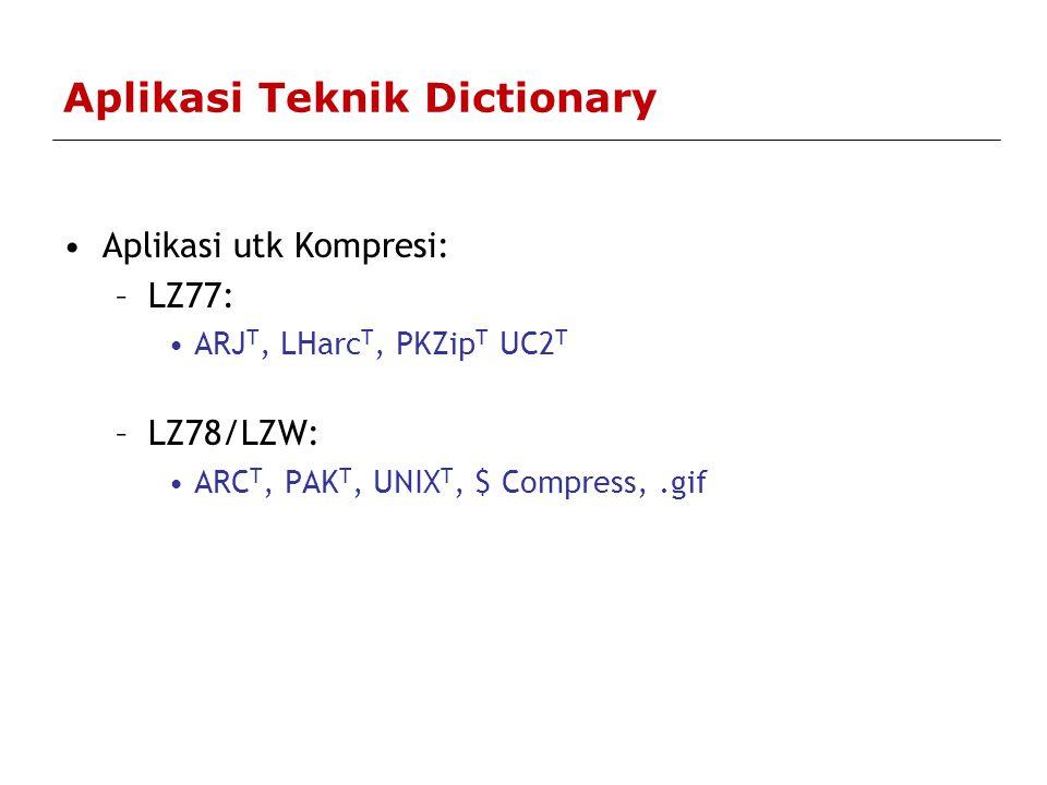 Aplikasi Teknik Dictionary