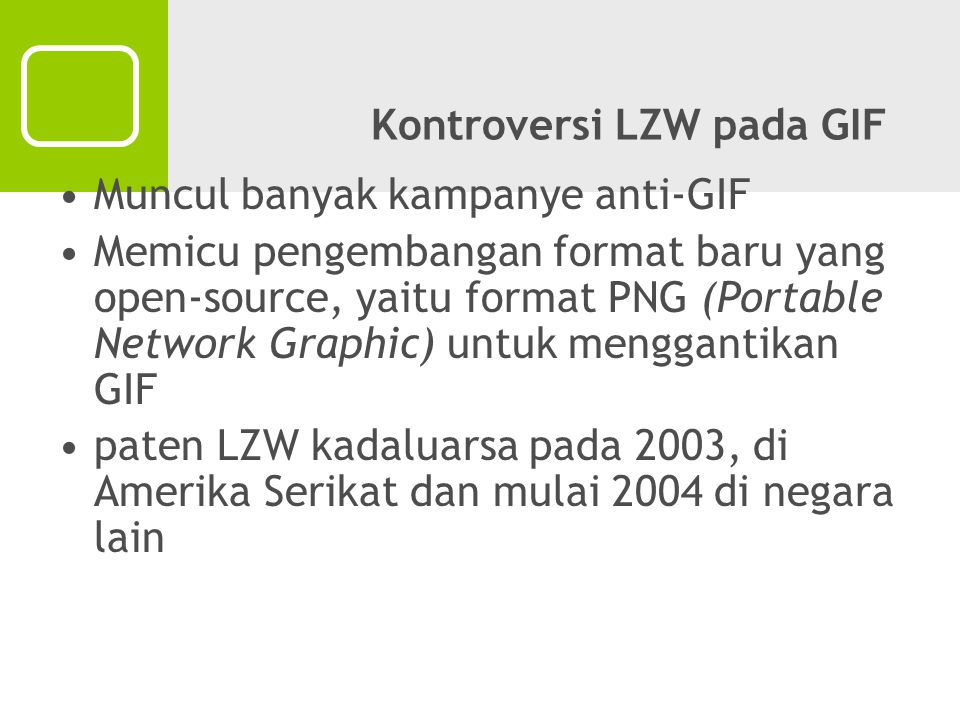 Kontroversi LZW pada GIF