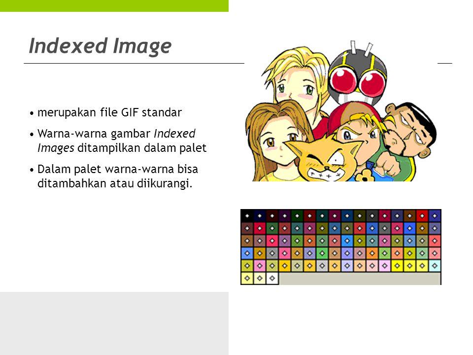 Indexed Image merupakan file GIF standar