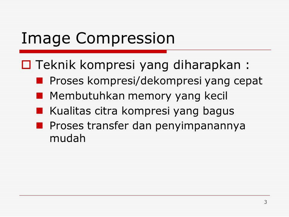 Image Compression Teknik kompresi yang diharapkan :