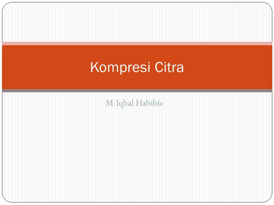 Kompresi Citra M.Iqbal Habibie