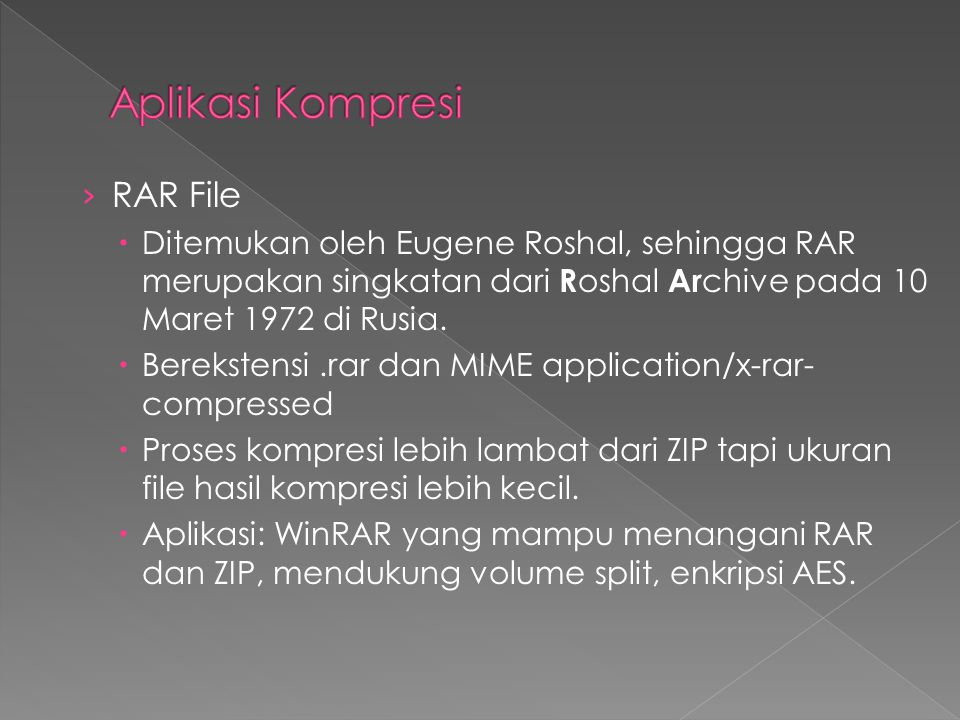 Aplikasi Kompresi RAR File