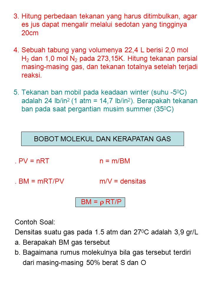 BOBOT MOLEKUL DAN KERAPATAN GAS