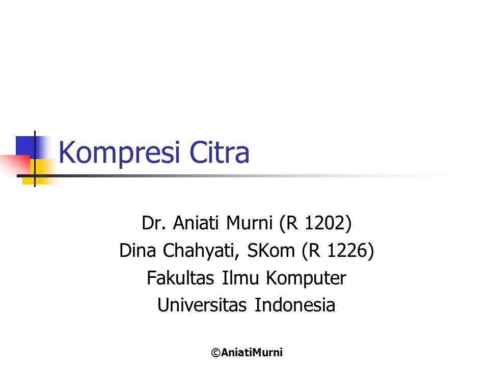 Kompresi Citra Dr. Aniati Murni (R 1202) Dina Chahyati, SKom (R 1226)