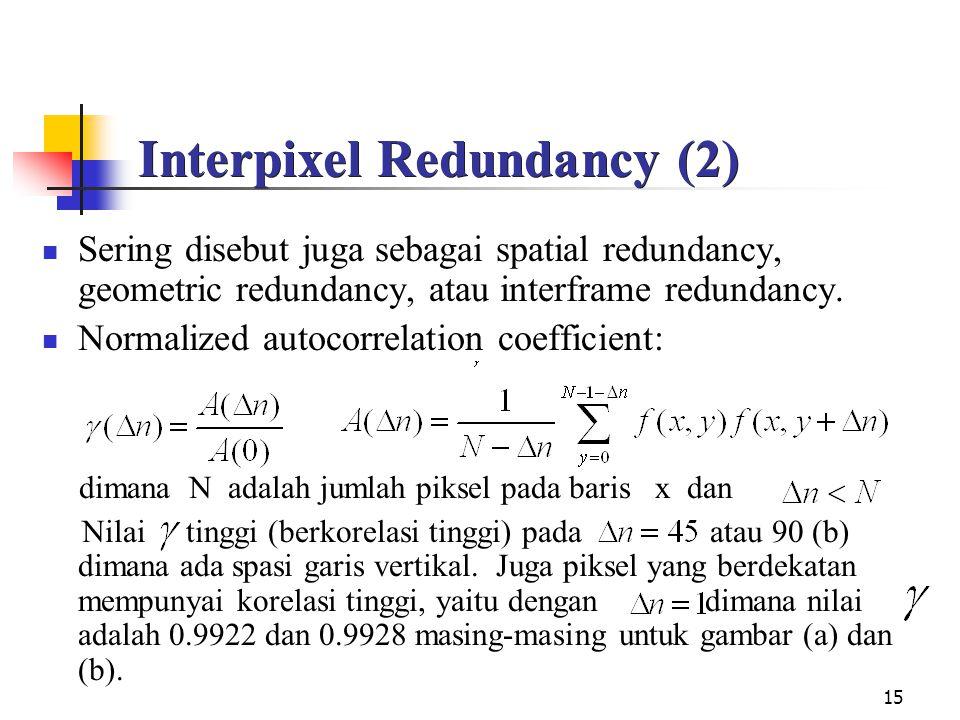Interpixel Redundancy (2)